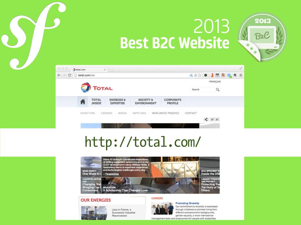 2013 Best B2C Website http://total.com/