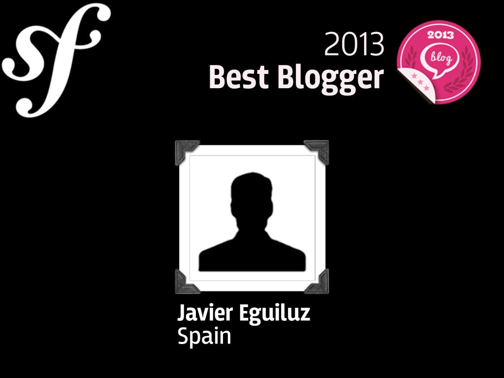 2013 Best Blogger Javier Eguiluz Spain