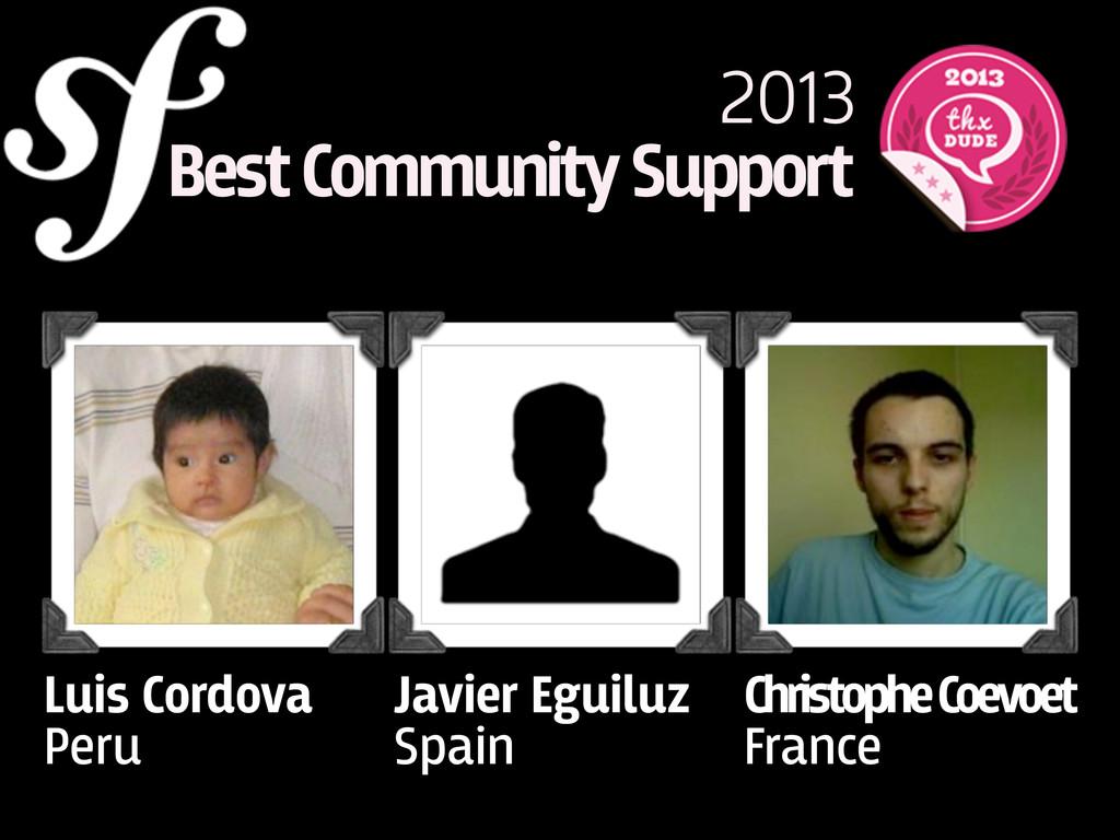 2013 Best Community Support Luis Cordova Peru J...