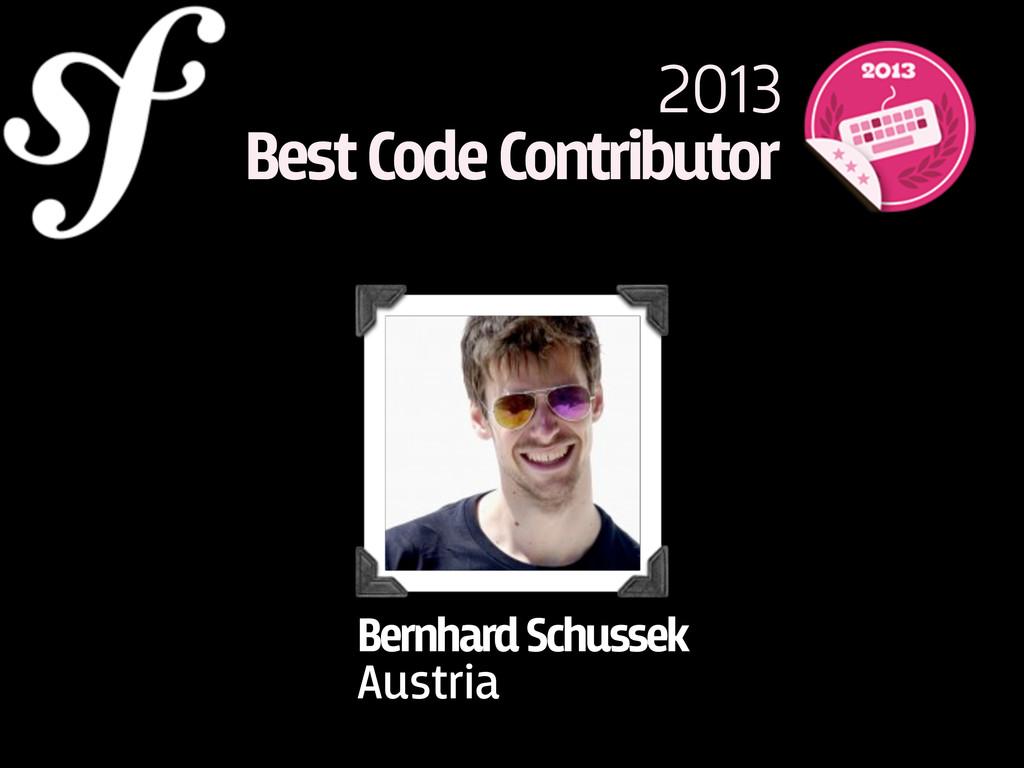2013 Best Code Contributor Bernhard Schussek Au...