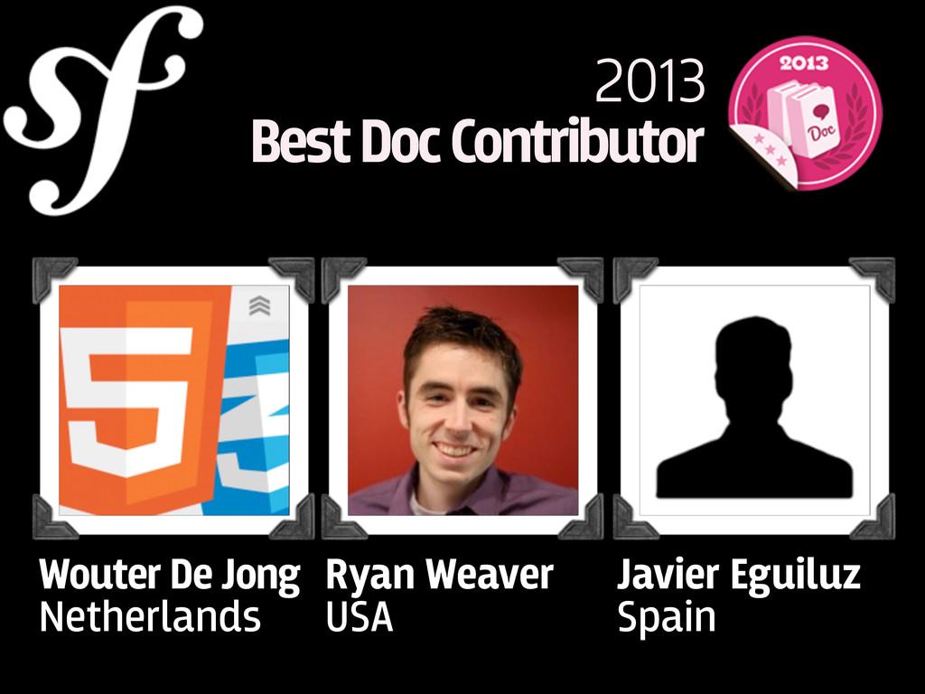 Wouter De Jong Netherlands 2013 Best Doc Contri...