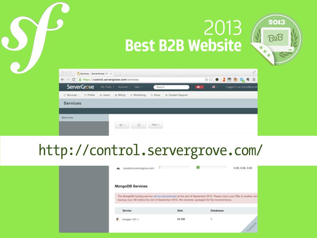 2013 Best B2B Website http://control.servergrov...