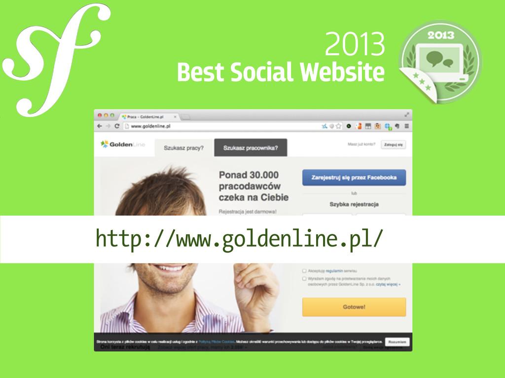 2013 Best Social Website http://www.goldenline....