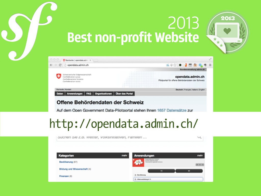 2013 Best non-profit Website http://opendata.ad...