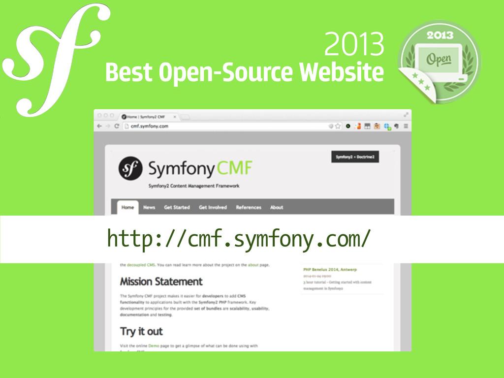 2013 Best Open-Source Website http://cmf.symfon...