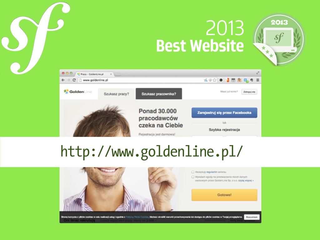 2013 Best Website http://www.goldenline.pl/