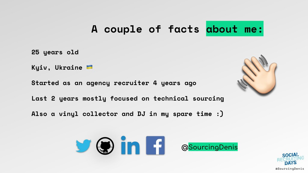 @SourcingDenis A couple of facts about me: Star...