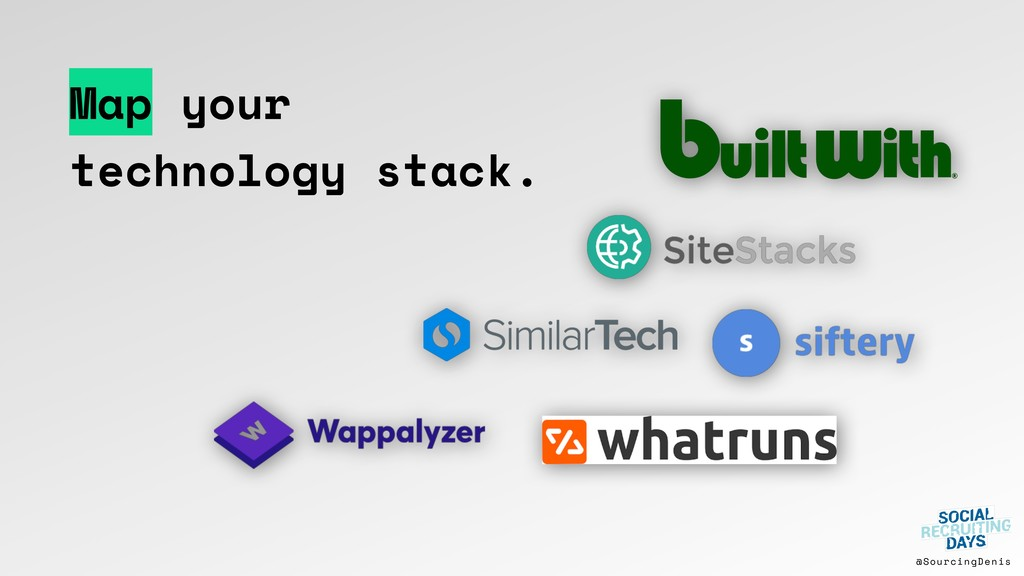 @SourcingDenis Map your technology stack.