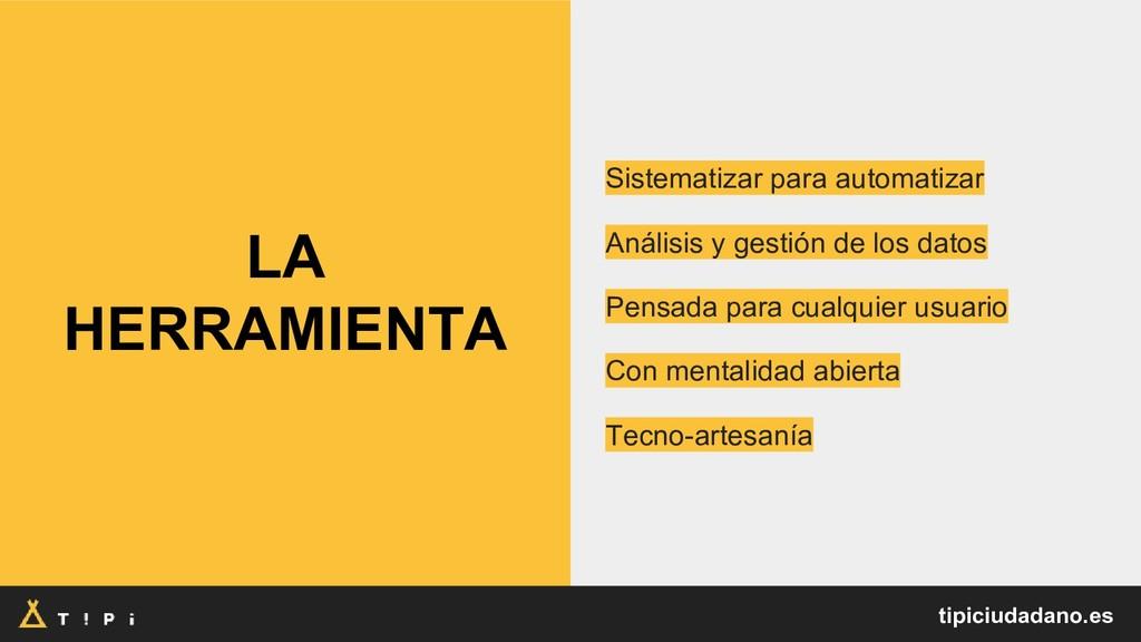LA HERRAMIENTA Sistematizar para automatizar An...