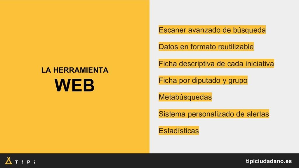 LA HERRAMIENTA WEB Escaner avanzado de búsqueda...