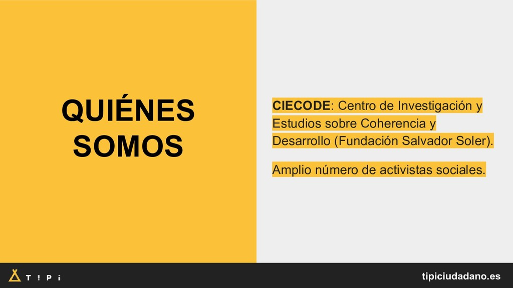 QUIÉNES SOMOS CIECODE: Centro de Investigación ...