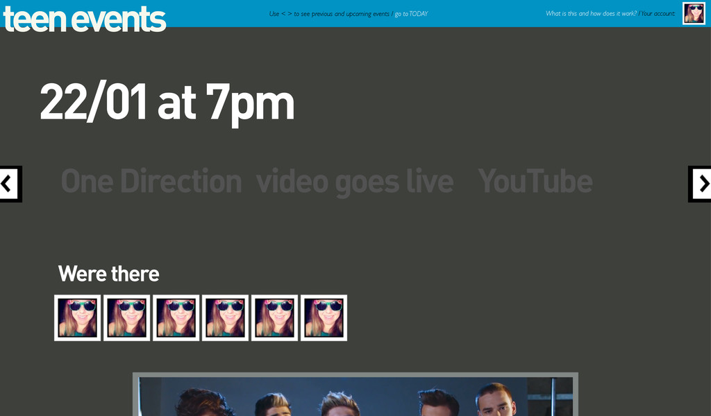 teen events One Direction video goes live YouTu...