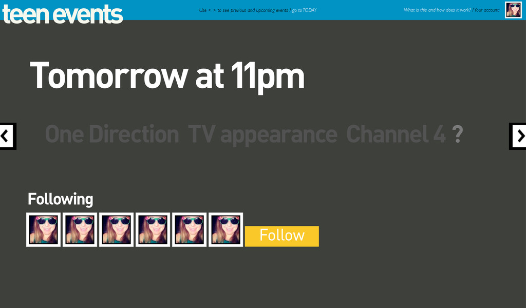 teen events One Direction TV appearance Channel...