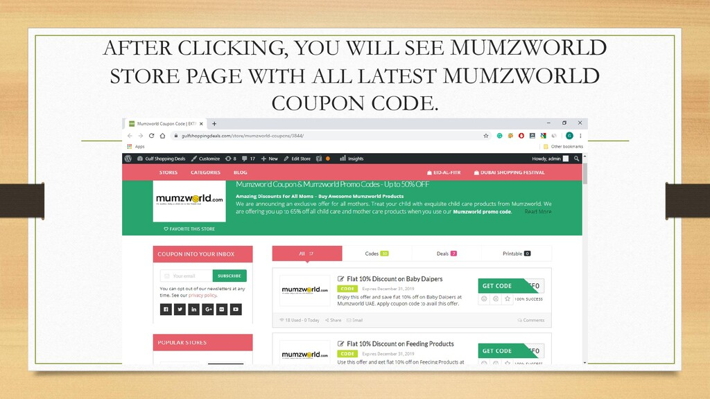 AFTER CLICKING, YOU WILL SEE MUMZWORLD STORE PA...