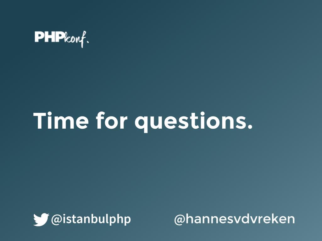 Time for questions. @hannesvdvreken @istanbulphp