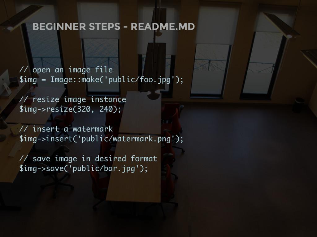 BEGINNER STEPS - README.MD // open an image fil...