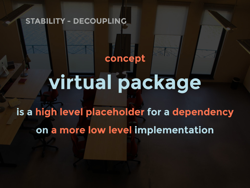 concept virtual package is a high level placeho...