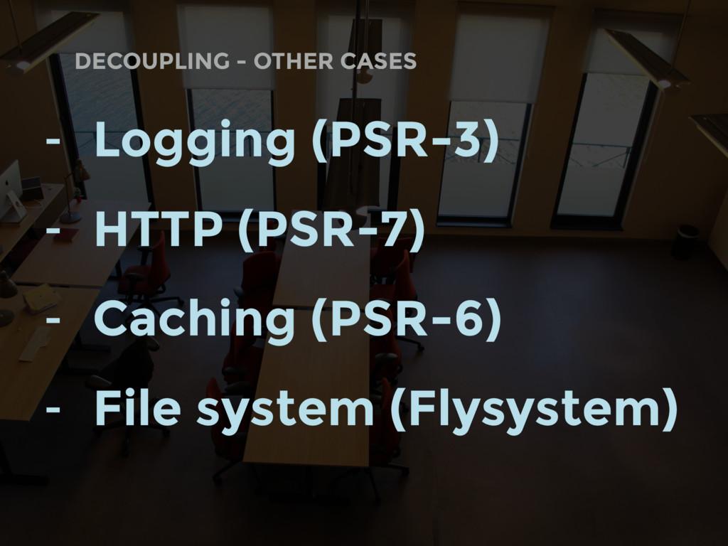 DECOUPLING - OTHER CASES - Logging (PSR-3) - HT...