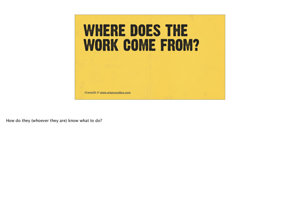 WHERE DOES THE WORK COME FROM? @antz29 /// www....