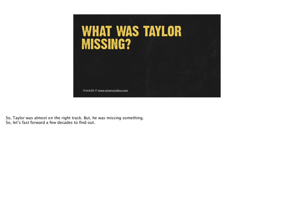 WHAT WAS TAYLOR MISSING? @antz29 /// www.wiseno...
