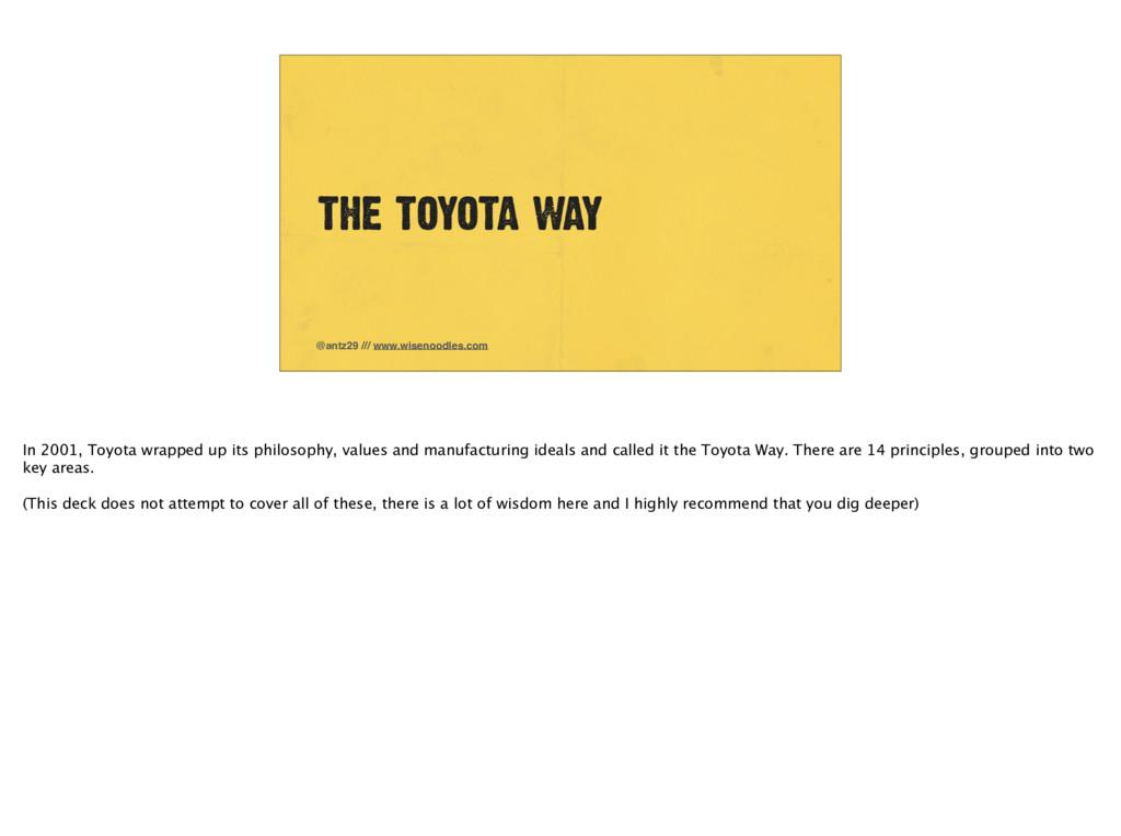 THE TOYOTA WAY @antz29 /// www.wisenoodles.com ...