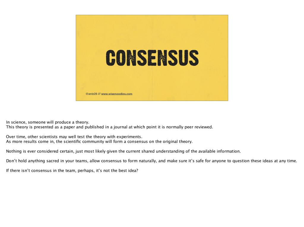 @antz29 /// www.wisenoodles.com CONSENSUS In sc...