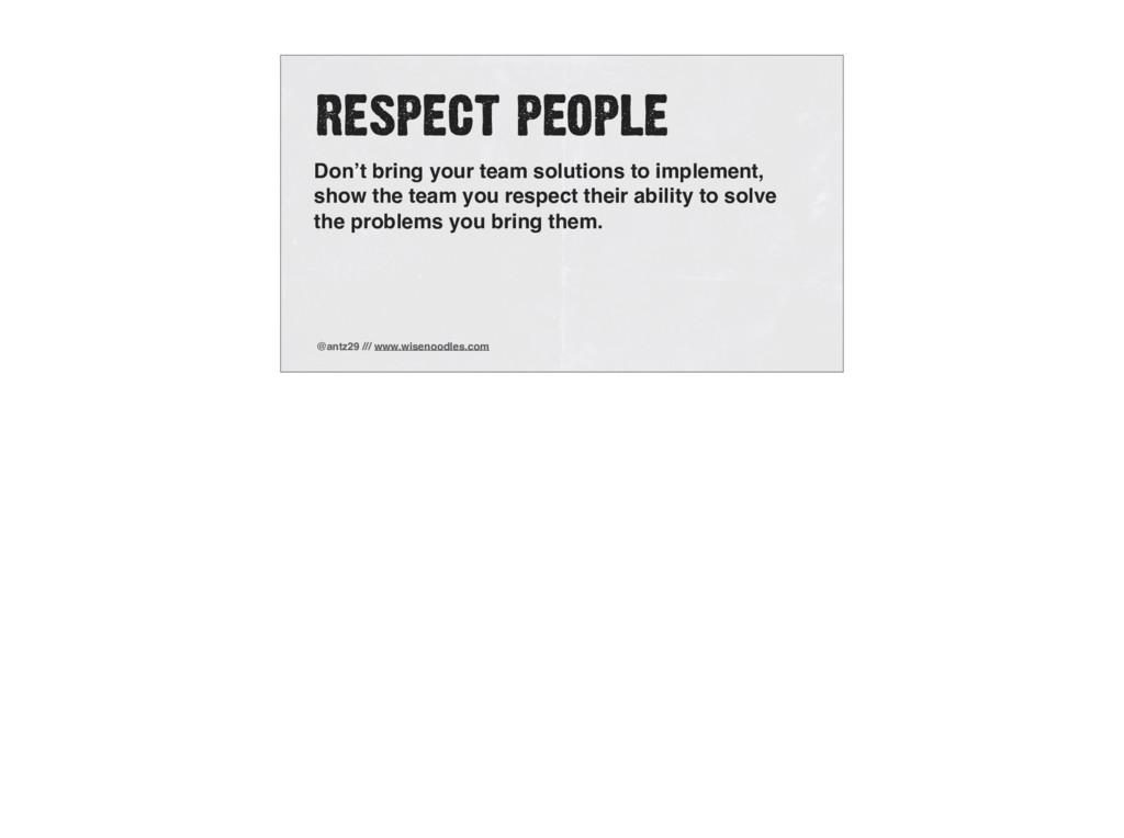 @antz29 /// www.wisenoodles.com RESPECT PEOPLE ...