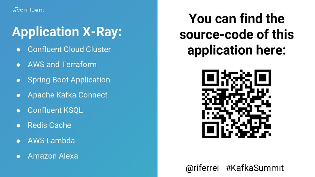 Application X-Ray: ● Confluent Cloud Cluster ● ...