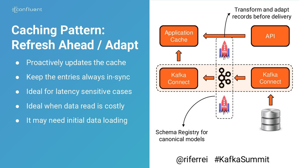 Caching Pattern: Refresh Ahead / Adapt ● Proact...