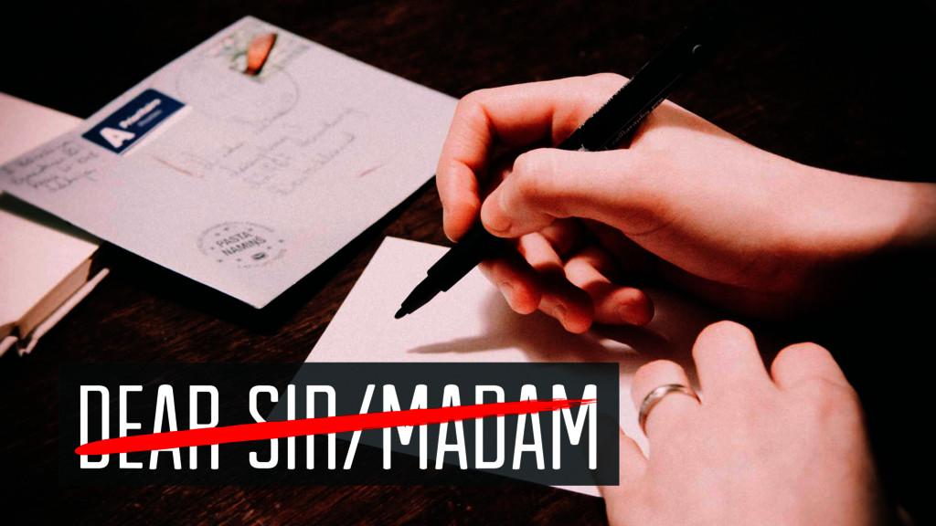 Dear sir/madam