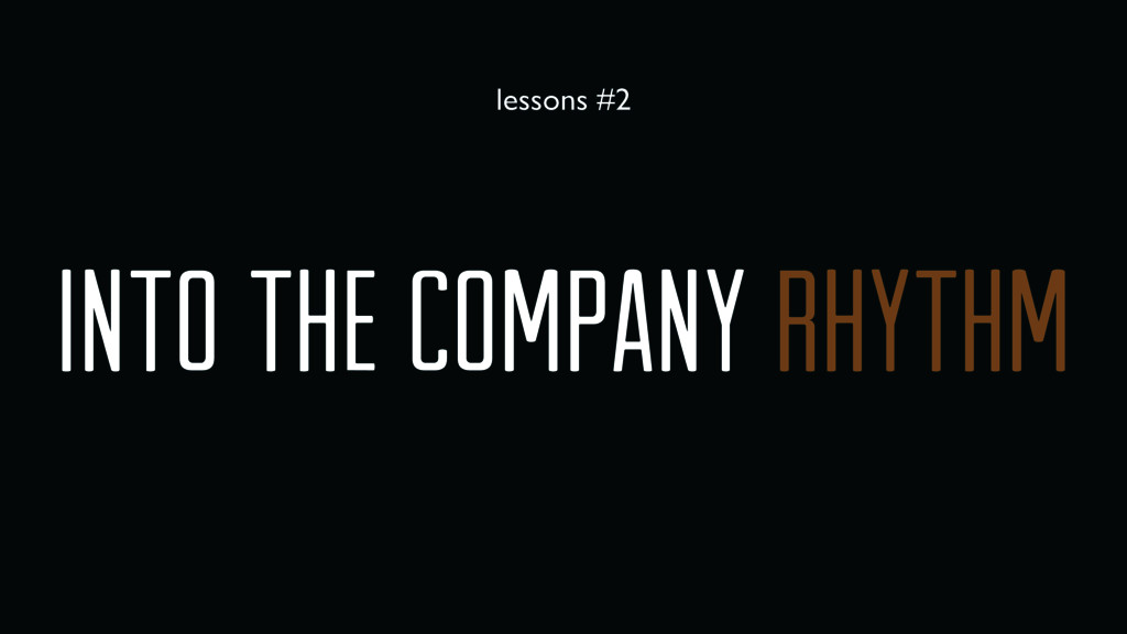 into the company rhythm lessons #2