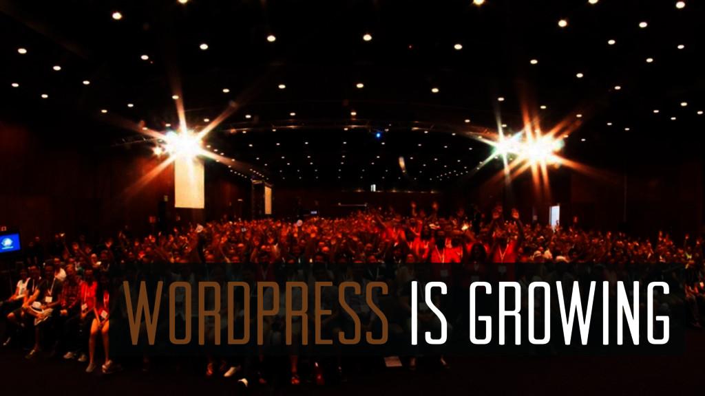 WordPress is growing