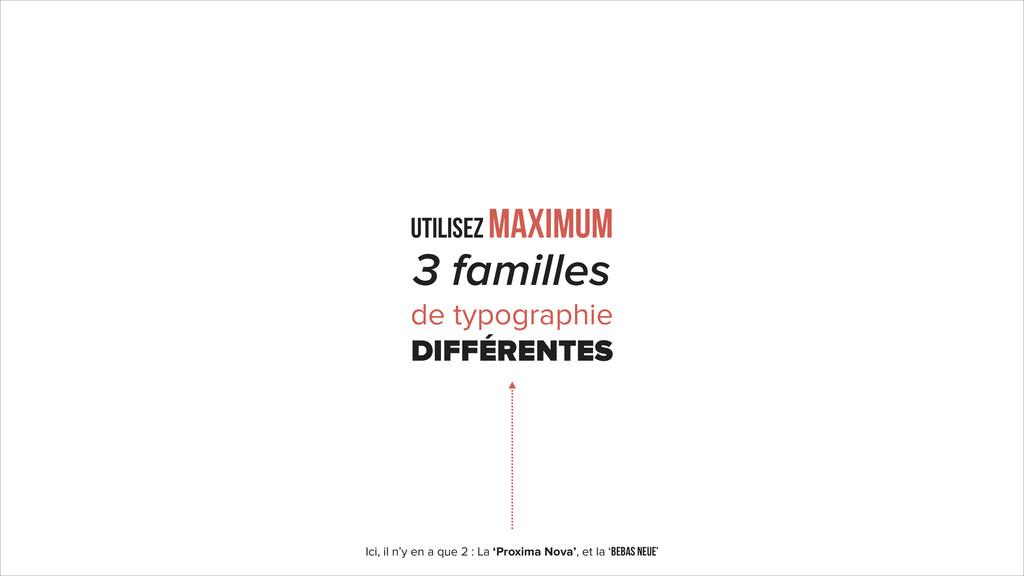 3 familles de typographie DIFFÉRENTES UTILISEZ ...