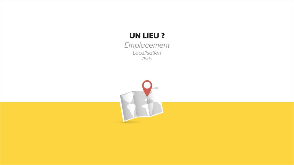 UN LIEU ? Emplacement Localisation Paris
