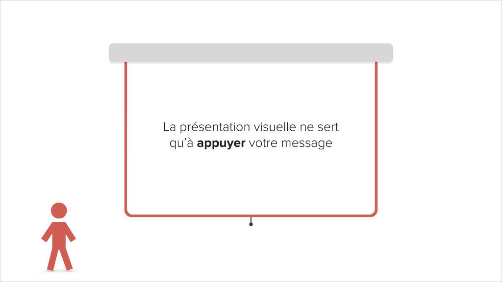 La présentation visuelle ne sert qu'à appuyer v...
