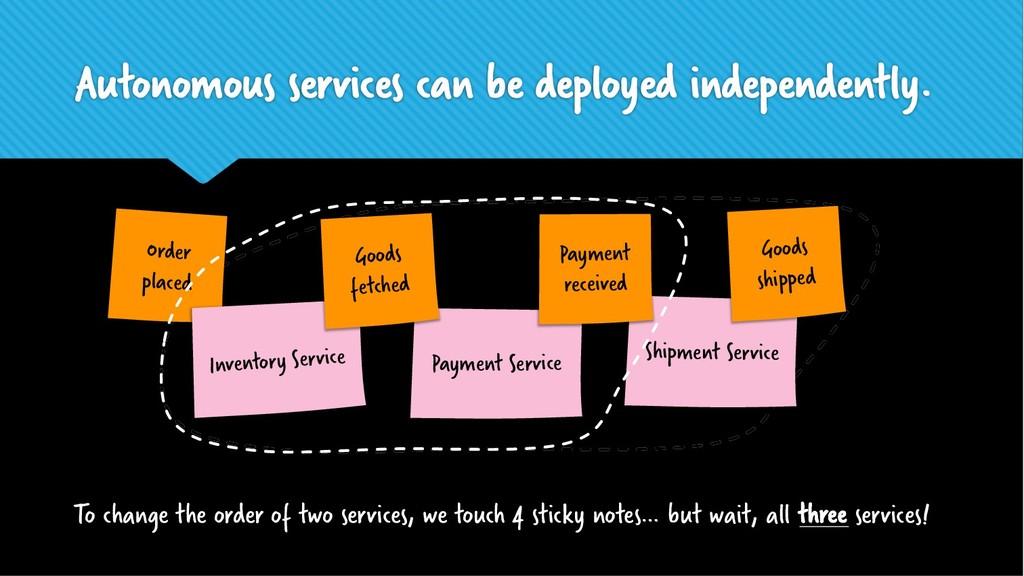 Shipment Service Autonomous services can be dep...