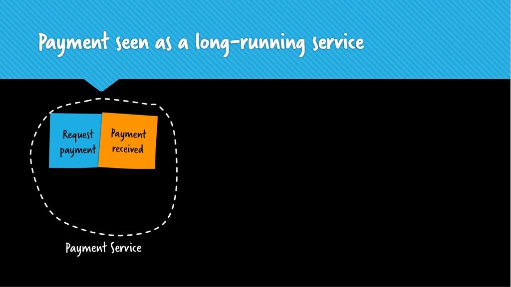Payment seen as a long-running service Request ...