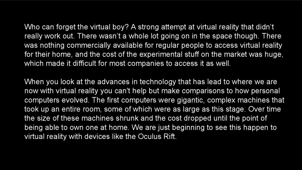 Who can forget the virtual boy? A strong attemp...