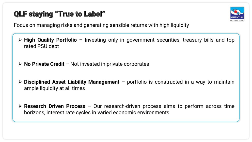 """QLF staying """"True to Label"""" Focus on managing r..."""