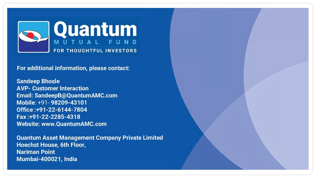 For additional information, please contact: Qua...