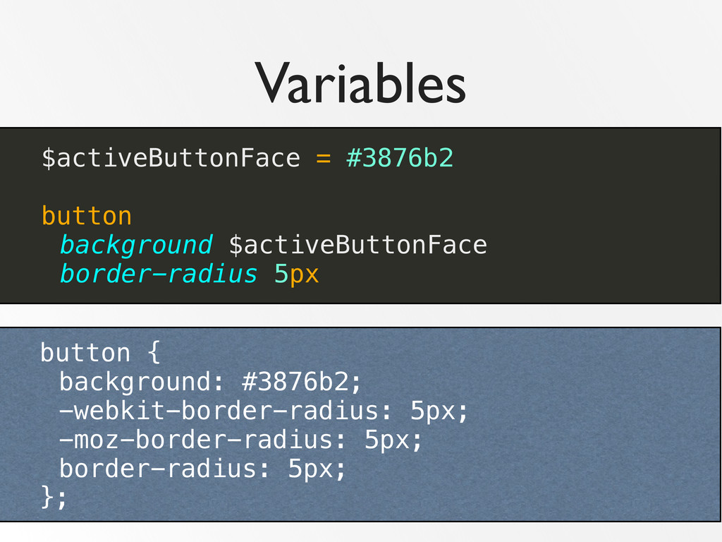 Variables $activeButtonFace = #3876b2 button ba...
