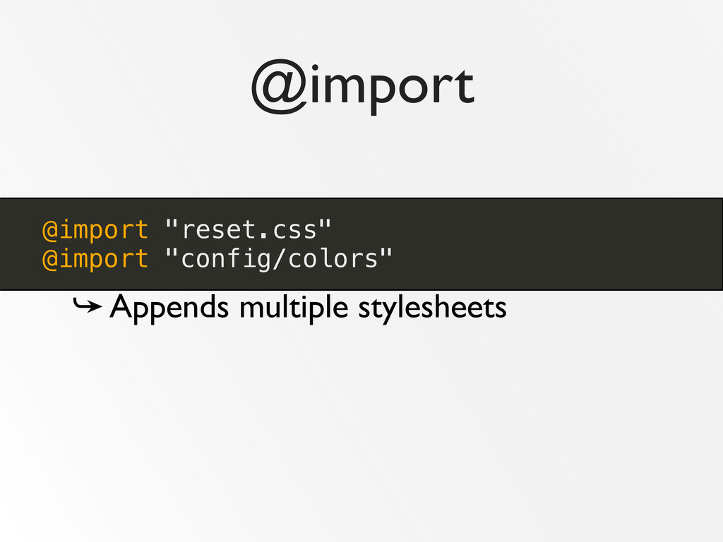 """@import @import """"reset.css"""" @import """"config/col..."""