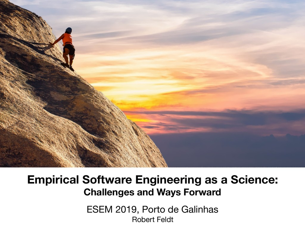 Empirical Software Engineering as a Science: Ch...