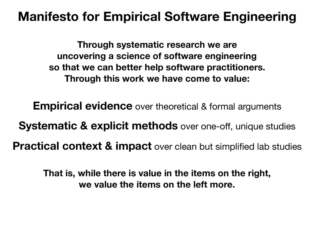 Manifesto for Empirical Software Engineering Th...
