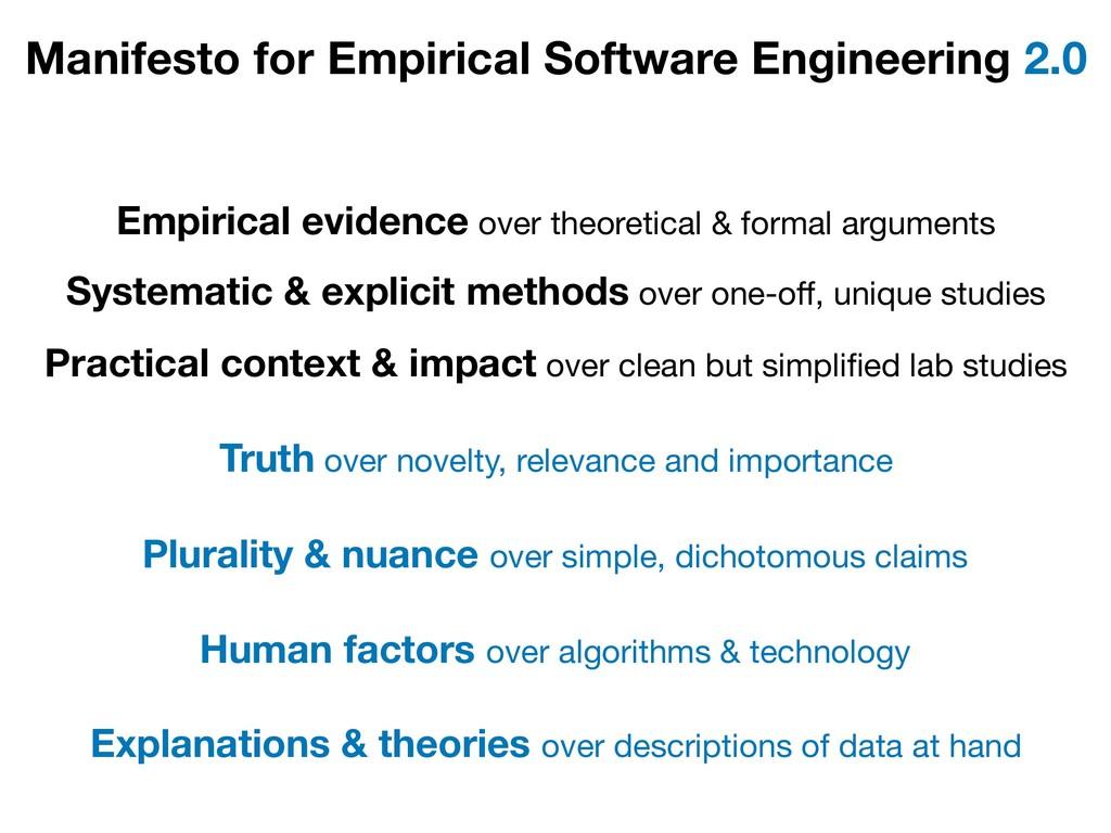 Manifesto for Empirical Software Engineering 2....
