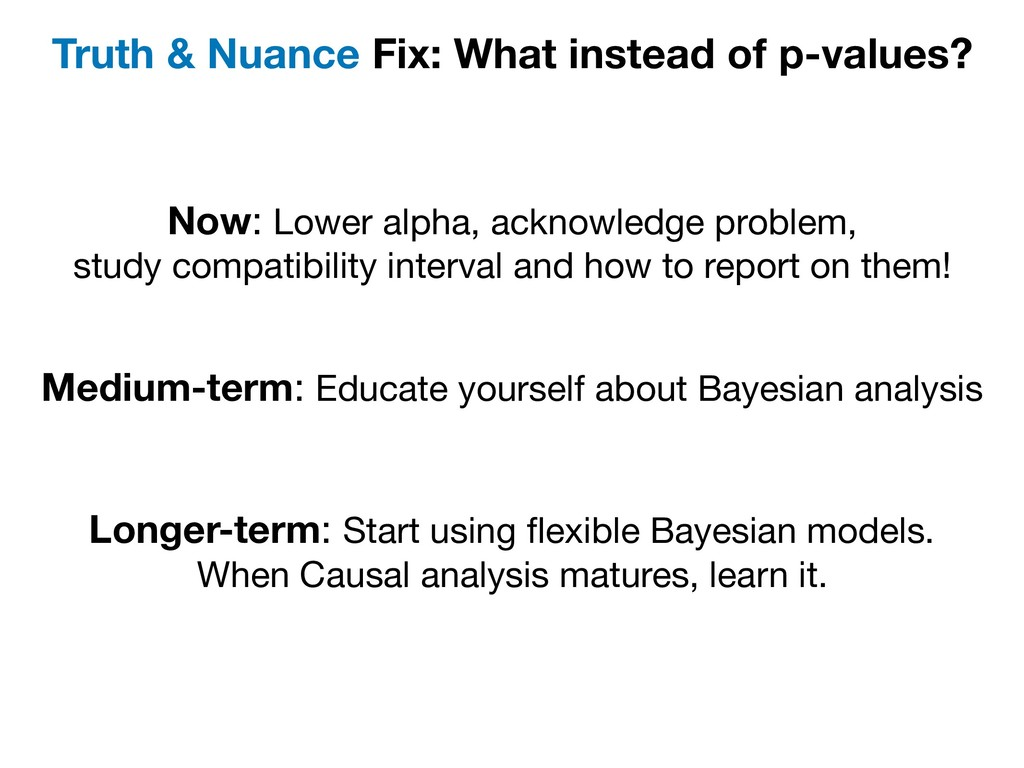 Truth & Nuance Fix: What instead of p-values? N...