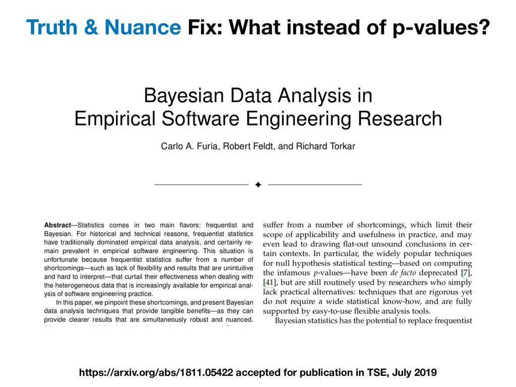 Truth & Nuance Fix: What instead of p-values? h...