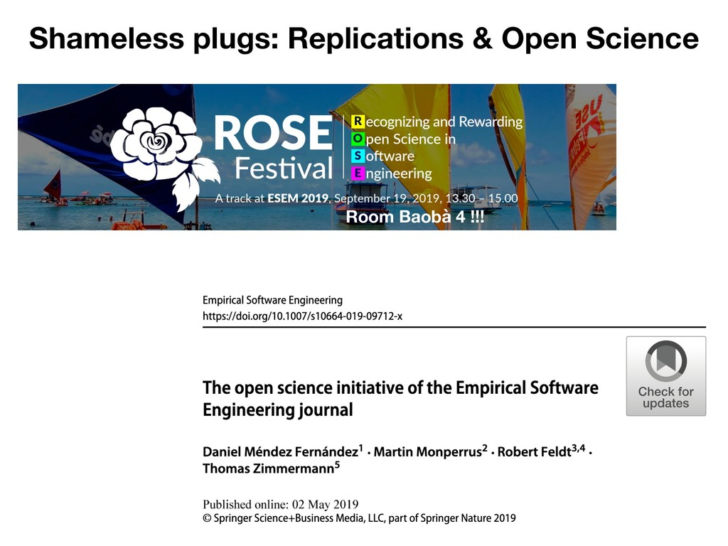 Shameless plugs: Replications & Open Science Ro...