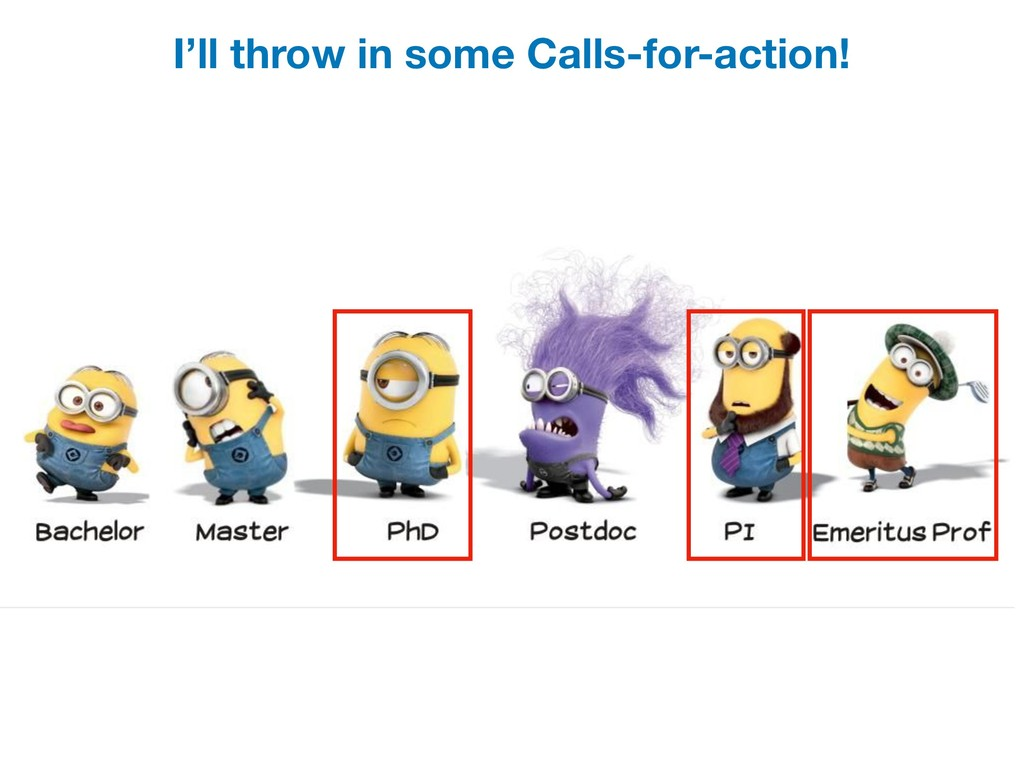 I'll throw in some Calls-for-action!