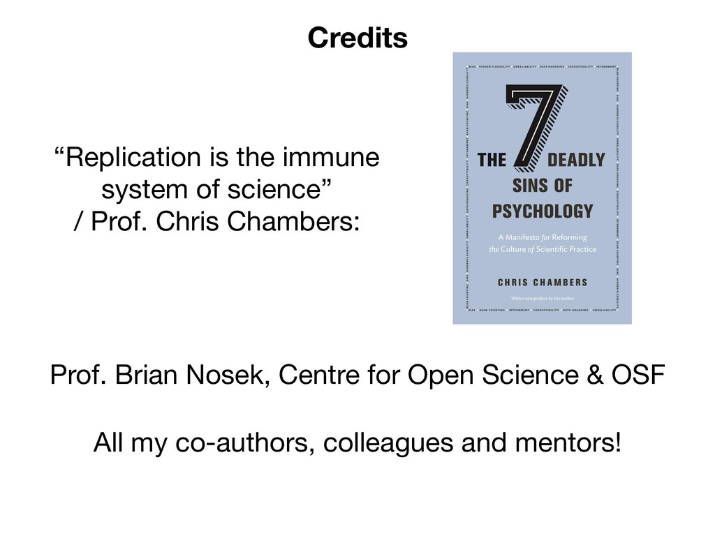 """Credits """"Replication is the immune system of sc..."""